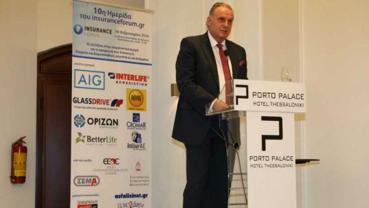 O  κ.Γιάννης Βοτσαρίδης CEO της INTERLIFE Ασφαλιστικής, κατά την ομιλία του στην ημερίδα του Insuranceforum.gr