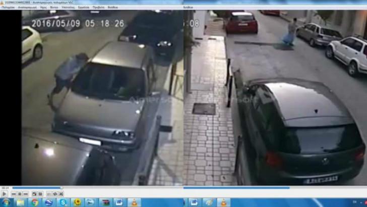 Διαρρήκτες αυτοκινήτων επί το έργον στη πόλη της Πάτρας .Πηγή φώτο patratora.gr