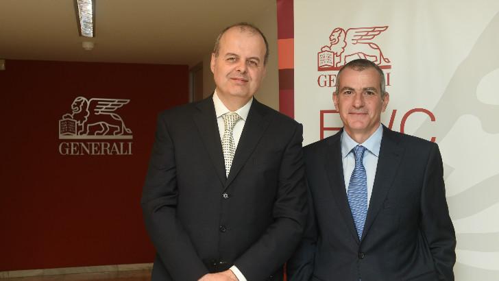 ο κ. Alberto Minali , General Manager και Group Chief Financial Officer του Ομίλου Generali και ο κ. Πάνος Δημητρίου, CEO της Generali στην Ελλάδα.