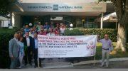 Πανελλαδική διαμαρτυρία έξω από τράπεζες των ασφαλιστικών διαμεσολαβητών
