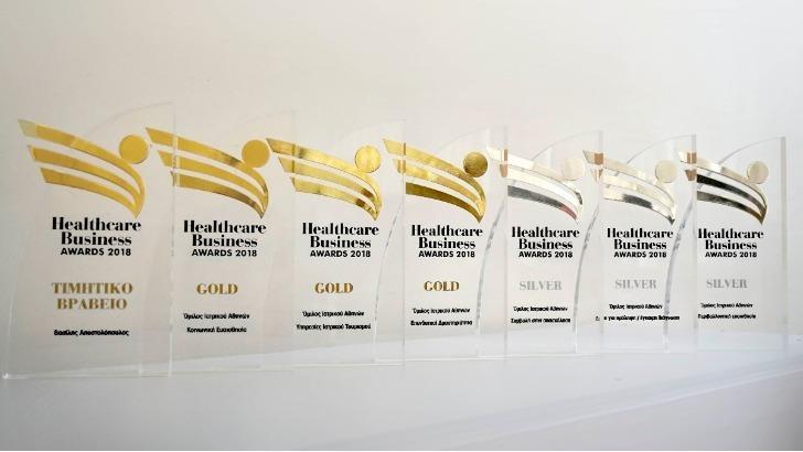 Μεγάλος νικητής των Healthcare Business Awards με 7 βραβεία o Όμιλος Ιατρικού Αθηνών
